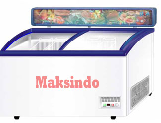 mesin glass sliding freezer